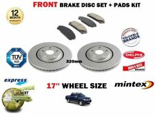 FOR NISSAN NAVARA D40 2.5 2005-> FRONT BRAKE DISCS SET & DISC PADS KIT 17'' TYRE