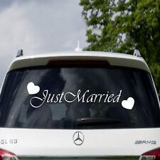 Wedding Sign Just Married Car Window Vinyl Sticker Decal