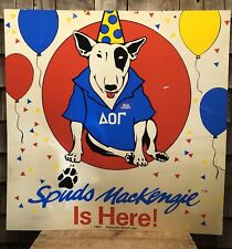 RARE Vintage 1987 Spuds Mackenzie Dog Bud Light Beer 2 Sided Advertising Sign