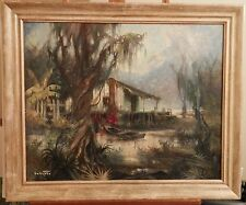 OLD antique Listed New Orleans Artist Fine Art OIL PAINTING original artwork $$$
