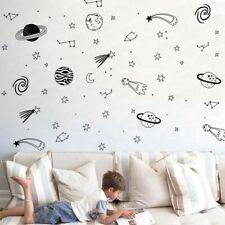 Universe Space Wall Decals Star Planet Vinyl Wall Sticker Nursery Decor Space