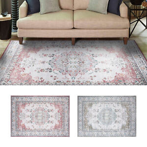 Large Floor Runner Bedroom Area Rugs Traditional Floral Soft Retro Carpet Mat