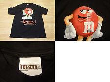Men's M&M's L NWT Red Guy Shirt S/S Black