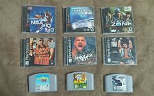 Nintendo N64, dreamcast, PlayStation Dreamcast game lot Glover wcw Nasscar 99