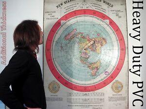 HEAVY DUTY GIANT 5f/t (152x101cm) FLAT EARTH GLEASONS NEW STANDARD MAP OF WORLD