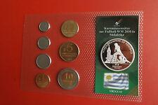 Uruguay KMS mit ca.20g.Silbermedaille(999)zur Fußball WM 2010 in Blister