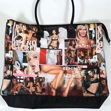 Victoria's Secret Tote Bag RARE Vintage Large Nylon Weekender Behind The Scenes