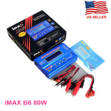 IMAX B6 80W Lipo NiMh Lithium Ion RC Battery Balance Digital Charger Discharger