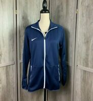 Women's Nike NWT Dri-Fit Blue Zip Front Jacket Zip Pockets MSRP $65.00 Large