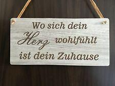 Türschild Deko schild Landhaus Vintage Shabby Retro Dekoschild ZUHAUSE Herz