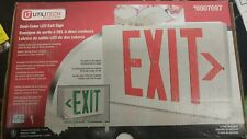 EXIT Sign Utilitech Red/Green LED Hardwired Exit Light Double Sided NIB