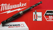 """Milwaukee 5mm  x 90mm 1/4"""" Hex Impact Driver HSS Metal,Wood,Plastic Drill Bit"""