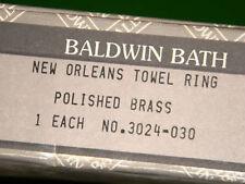Baldwin Bath 3024-030 New Orleans Towel Ring  NIB