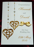 Personalised Handmade Wedding Anniversary Engagement Wedding Card (1556GSRP)