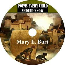 Poems Every Child Should Know, Mary E. Burt Childrens Kids Audiobook 7 Audio CDs