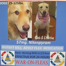 Flea Pills Control 57mg. Dogs 25-125lbs. SALE $5.99(3 pack) +1 FREE PILL