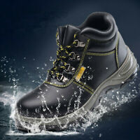Men Steel Toe Waterproof Work Boots Winter Non-Slip Hiking Climbing Safety Shoes