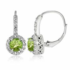 Peridot Heat & Pressure Drop/Dangle Fine Earrings