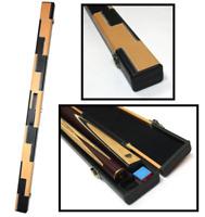 Handmade Billiards Snooker Pool Hard Cue Case For 3/4 Split Cue - Black & Beige
