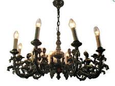 Impressive Eastern style Chandelier Bronze 10 Lights Genie Figurines Lamps  HTF