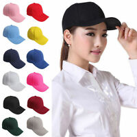 Adjustable Men Women Plain Baseball Cap Blank Solid Trucker Hat Curved Visor