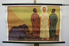 Schulwandkarte Bibelgeschichte Patmos 11 ~1963 Die Verklärung 76x50cm vintage