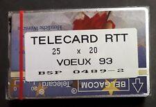 BELGIQUE PAQUET DE 25 TÉLÉCARTES 20 UNITÉS RTT VŒUX 1993 - NEUF RARE