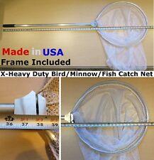 "X-HEAVY DUTY 18""Dia Bird Poultry Fish DIP CATCH NET/MINNOW SEINE incl LONG FRAME"