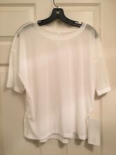 Lululemon Get Low Short Sleeve SS NWT 8 White Color Mesh Sold Out Style