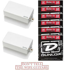 EMG 81 + 85 WHITE ACTIVE HUMBUCKER PICKUP SET SHORT SHAFT POTS ( 6 STRINGS SETS)