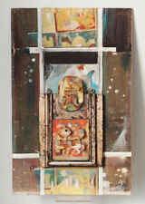 1986 assemblage, painting by Josef Obermoser, signed