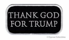 PRO-TRUMP BIKER PATCH THANK GOD 4 PRESIDENT DONALD ELECTION IRON-ON EMBROIDERED