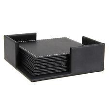 6Pcs Leather Coaster Cup Mat Pads Table Decor Tableware Mug for Coffee Tea Wine