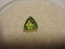 Peridot Trillion Cut Gemstone 4 mm x 4 mm 0.15 Carat Natural Gem