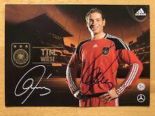 Tim Meadow 1. Ak DFB 2010 Carte Autographe Original Signé 2on1