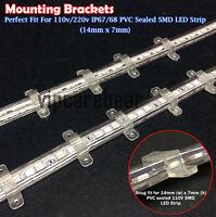 30pcs 14mm x7mm PVC Mounting Brackets for 110V 5050/3528 IP67/68 LED Strip Light