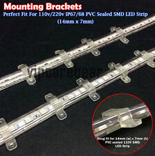 20pcs Mounting Brackets for 110V IP67/IP68 PVC SMD LED Strip Light (14mm x 7mm)