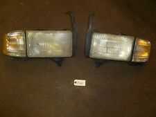 Z164 DODGE 94-02 1500 2500 3500 HEADLIGHT ASSEMBLY LEFT RIGHT PAIR W/ PIGTAIL