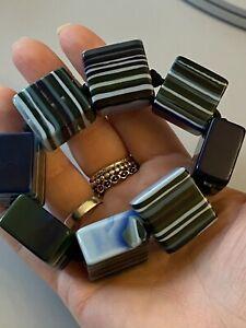 Jackie Brazil Sobral Liquorice Allsort Chunky Resin Blue Bracelet