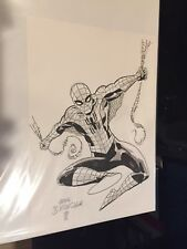 AMAZING SPIDERMAN MARK BUCKINGHAM WATERCOLOR SKETCH 1 LOT FANTASY 15 AVENGERS