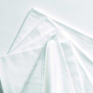 TowelsRus Plain Cotton White Tea Towels, 12 Pack, Dish Cloths, Kitchen, Drying