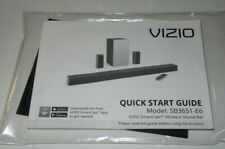 "Vizio 36"" Soundbar 5.1 System Model SB3651-E6 Owners Manual ONLY"