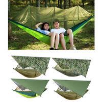 Camping Hängematte Wasserdichte Outdoor 2 Personen Hinterhof Moskitonetz Bug