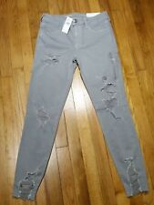 American Eagle Jegging Jeans Size 16 r Regular Low Rise Gray Super Stretch X NWT