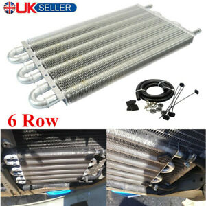 6 Row Aluminum Transmission Oil Cooler Manual To Auto Radiator Converter Kit
