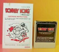 Atari 2600 Donkey Kong Game & Instruction Manual Tested Works Rare