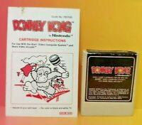 Atari 2600 Donkey Kong Game & Instruction Manual Tested Works Rare