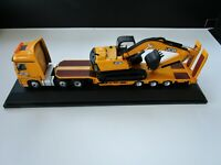 OXFORD DIECAST - JCB   Mercedes Actros Semi Low Loader & JS220 Tracked Excavator