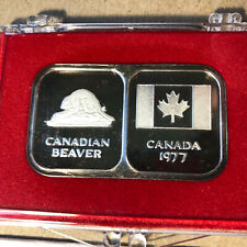 1977 Rosario Resource Canada 1 oz .999 Silver Bar w/ Case and COA
