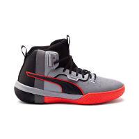 PUMA Men's Legacy Disrupt Puma Black/Red Blast Basketball Shoes 19301801 NEW!